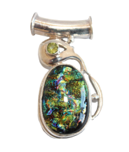 Dichroic Sterling Pendant